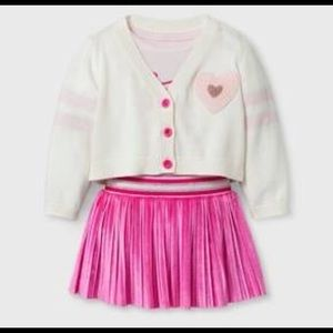 Cat &Jack Cardigan, Bodysuit Skirt Set 18m $30